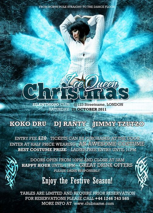 Christmas Flyer Template Free PSD