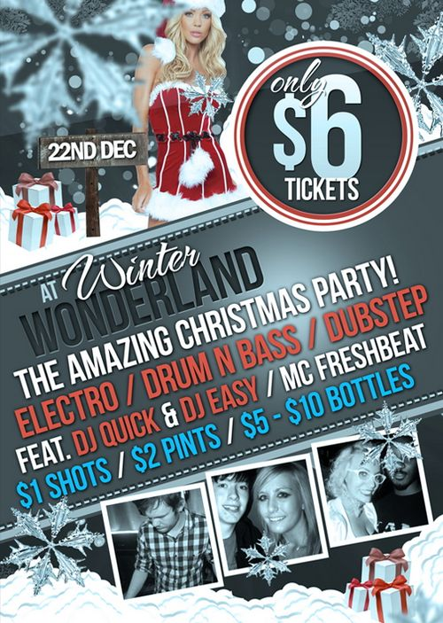 Winter Wonderland Free Christmas Flyer Template