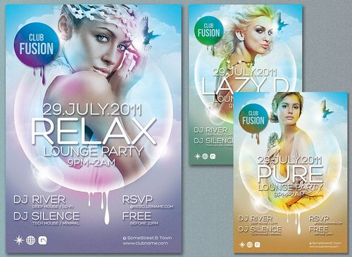 free poster flyer template psd design 3
