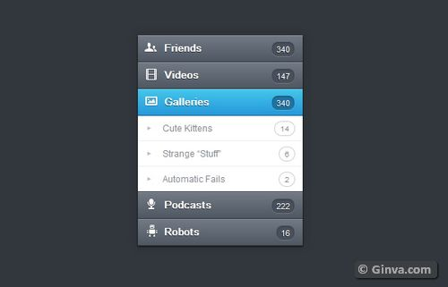 Free Vertical and Horizontal CSS3 Menu Navigation