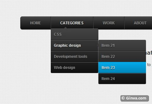 free vertical horizontal css3 menu navigation 19