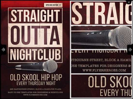 Free Straight Outta Flyer Template
