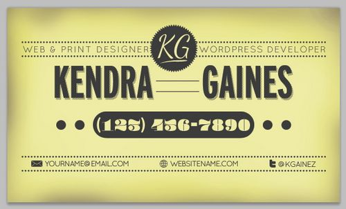 vintage retro business card design 1