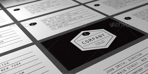 vintage retro business card design 12
