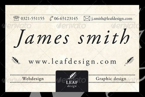 vintage retro business card design 14