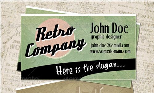 vintage retro business card design 15