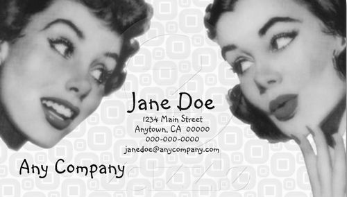 vintage retro business card design 16