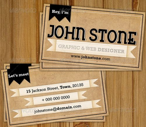 vintage retro business card design 17