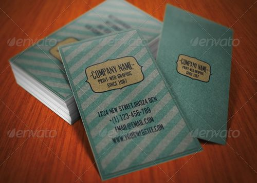 vintage retro business card design 19