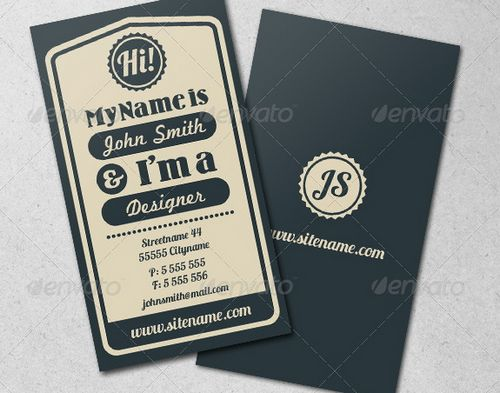 vintage retro business card design 25