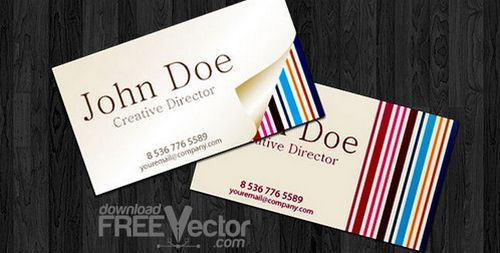 vintage retro business card design 3
