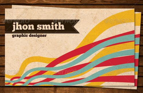vintage retro business card design 31