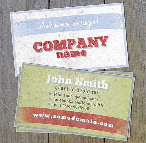 vintage retro business card design 34