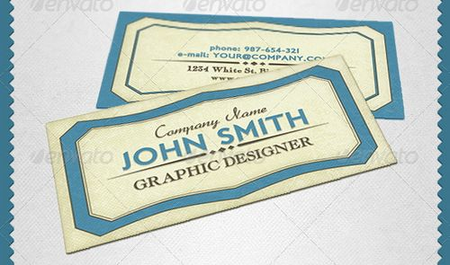 vintage retro business card design 35