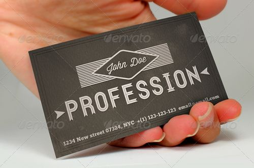 vintage retro business card design 36