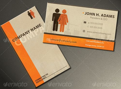 vintage retro business card design 38