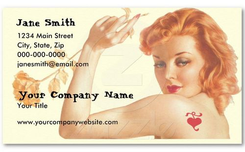 vintage retro business card design 39