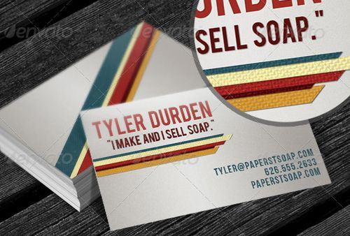 vintage retro business card design 41