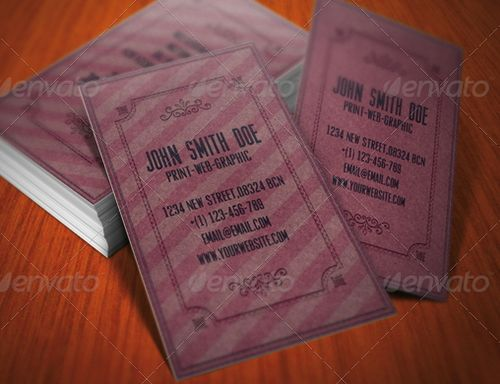 vintage retro business card design 43