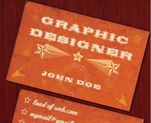 vintage retro business card design 6