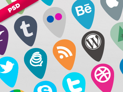 11 social icon sets download