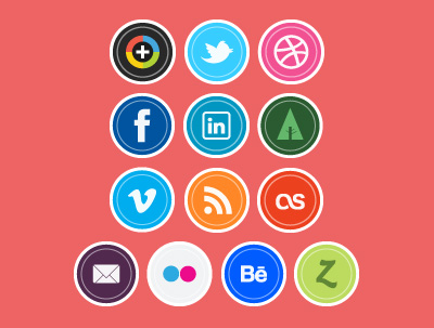 14 social icon sets download