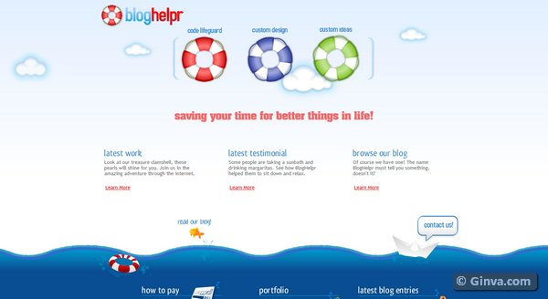 Blue Website Designs