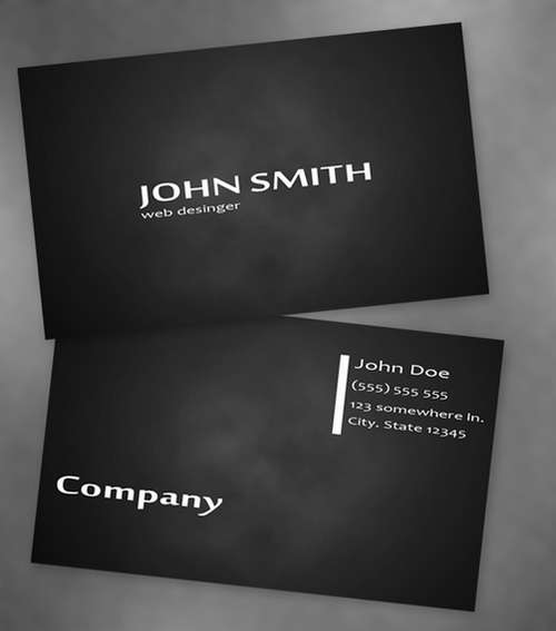 Free Dark Black Business Card Templates 1