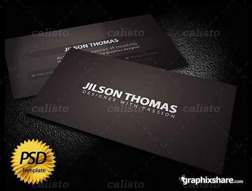 Black business card template 60 absolutely free dark and black business card templates ginva reheart Gallery