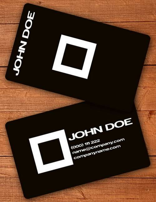 60 absolutely free dark and black business card templates ginva black business card templates flashek Gallery
