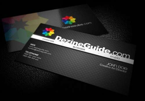 60 absolutely free dark and black business card templates ginva black business card templates friedricerecipe