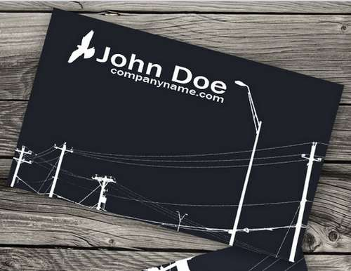 Absolutely Free Dark And Black Business Card Templates Ginva - Electrician business cards templates free