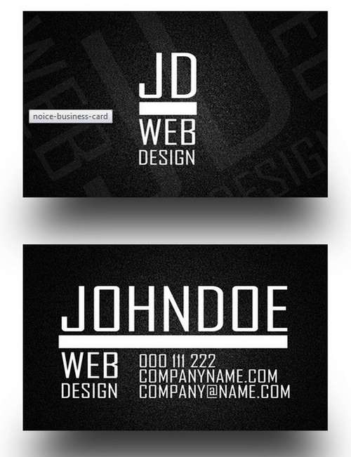 Black business card template 60 absolutely free dark and black business card templates ginva reheart Image collections