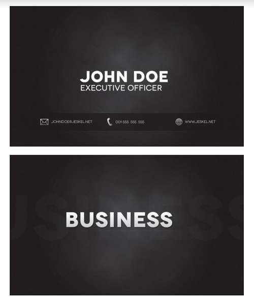 Black business card template reheart Gallery
