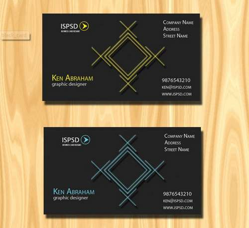 download free dark black business card templates 57 60 Absolutely Free