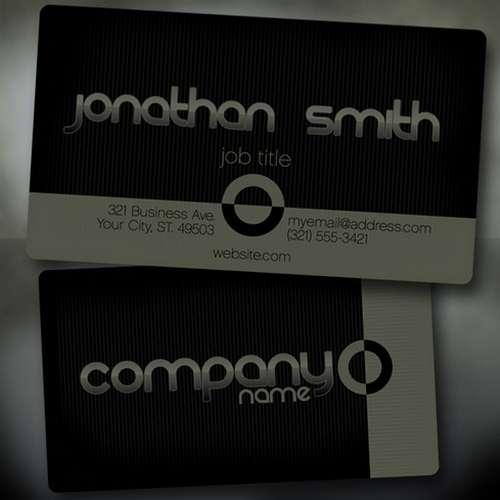 Black Business Card Templates