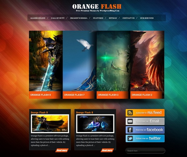 20 Free And Premium Wordpress Themes For Online Games
