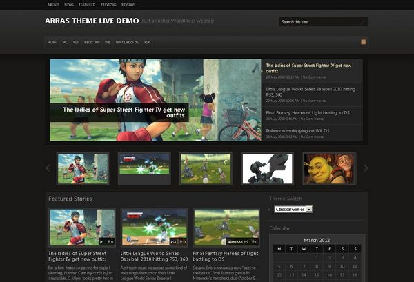 20+ Free and Premium WordPress Themes for Online Games Review Websites ...