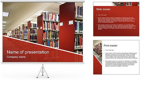 Download Free Education PowerPoint Presentation Templates For - Library brochure templates