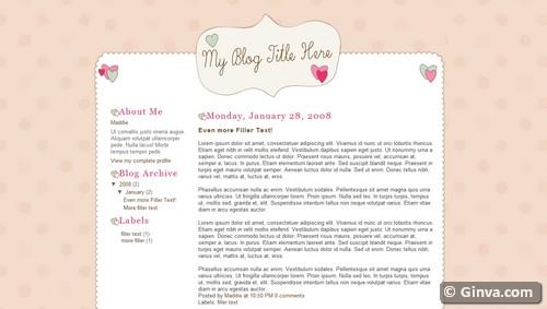 Free Pretty Blogger Templates Free Blogger Templates