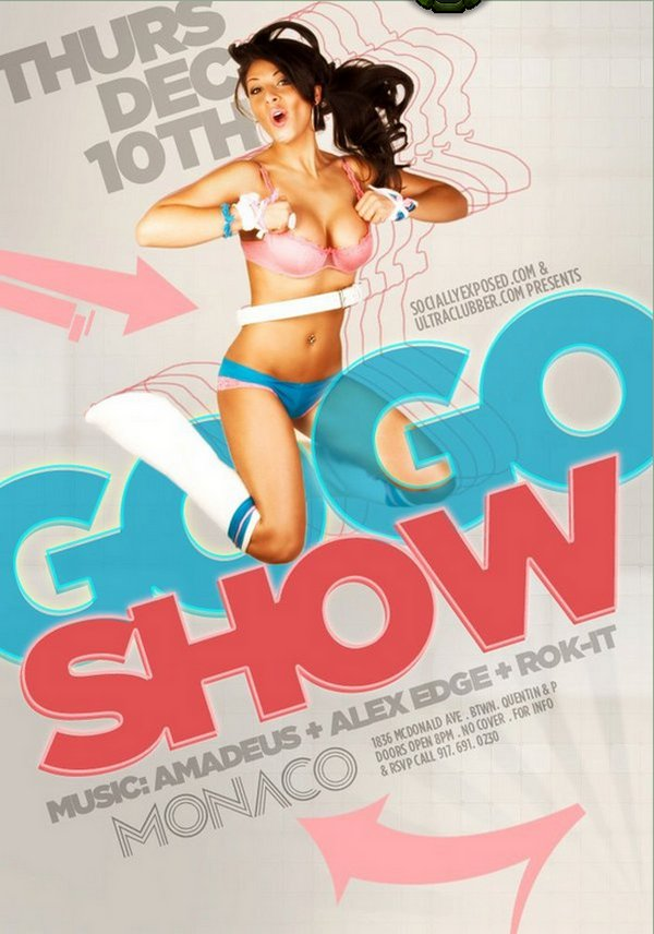 nightclub party flyer gogo show flyer design ideas - Flyer Design Ideas