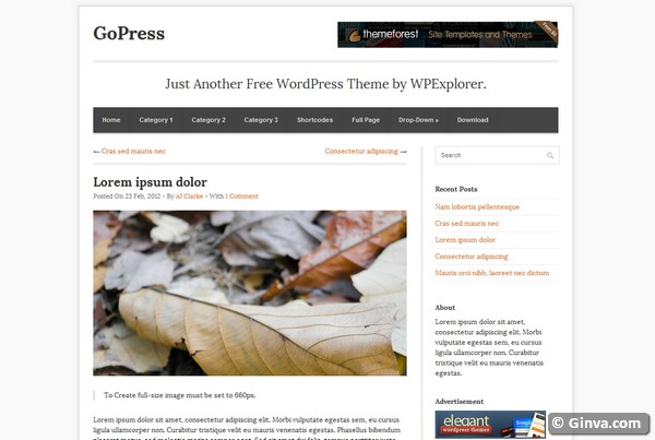 personal blog wordpress theme 12
