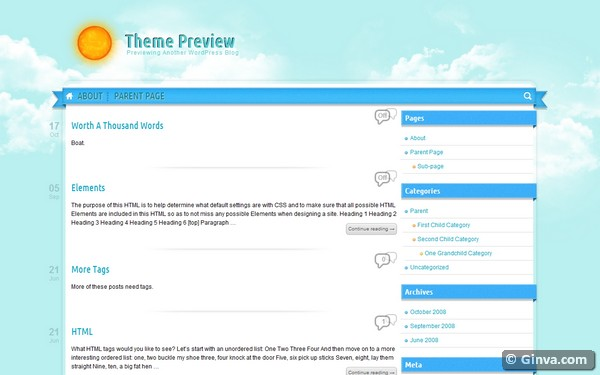 personal blog wordpress theme 13