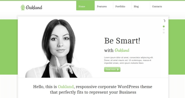 30 free and premium htmlcss responsive website templates ginva 11 oakland responsive corporate html5 template flashek Image collections