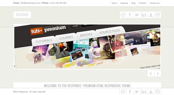 responsive html css website template layout 3