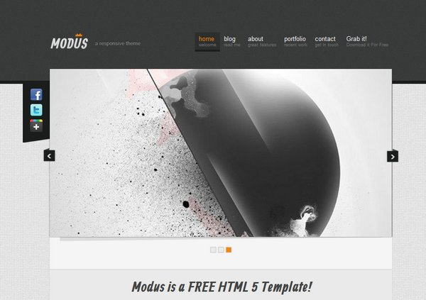 responsive html css website template layout 5