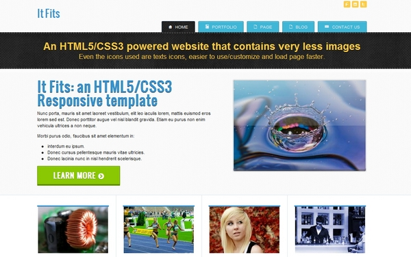 responsive html css website template layout 7
