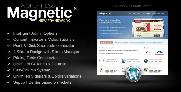 Magnetic. Premium WordPress Theme. - ThemeForest Item for Sale