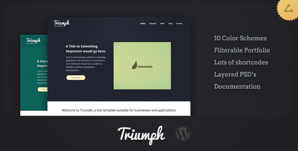 Triumph - Business WordPress - ThemeForest Item for Sale