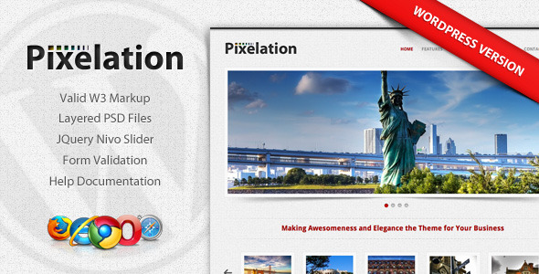 Pixelation - WordPress - ThemeForest Item for Sale